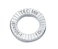 0.34 Inch (in) Inner Diameter (A) TEC Series Wedge Locking Washers